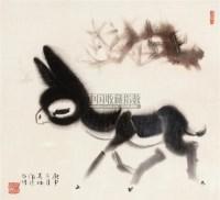 小驴图 镜框 设色纸本 -  - 名家小品暨册页专场 - 2010秋季艺术品拍卖会 -收藏网