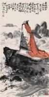 曹操像 立轴 设色纸本 - 韩敏 - 中国近现代书画(一) - 2010秋季艺术品拍卖会 -中国收藏网
