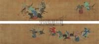 守猎图 手卷 绢本设色 - 仇英 - 中国古代书画  - 2010秋季艺术品拍卖会 -收藏网
