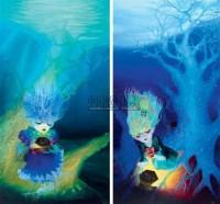 潘多拉之魔盒 布面油画 - 韩璐 - 中国油画  - 2010年秋季艺术品拍卖会 -收藏网