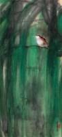 柳荫栖禽 立轴 设色纸本 - 陈佩秋 - 中国近现代书画(二) - 2010秋季艺术品拍卖会 -收藏网
