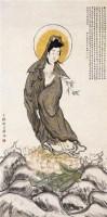 观音 立轴 设色纸本 - 胡锡珪 - 近现代书画 - 2006夏季书画艺术品拍卖会 -收藏网