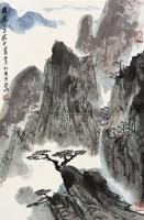 山水 立轴 设色纸本 - 亚明 - 中国书画 - 2010秋季艺术品拍卖会 -收藏网