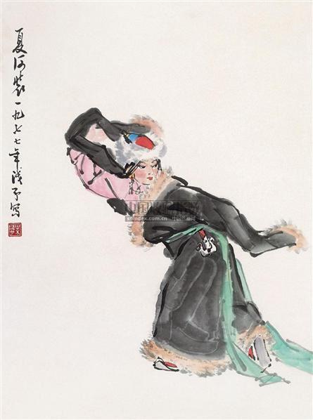 夏河装 镜心 设色纸本 - 4527 - 中国书画(一) - 2010年秋季艺术品拍卖会 -收藏网