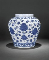 青花缠枝莲纹罐 -  - 瓷器 - 2010年秋季拍卖会 -中国收藏网