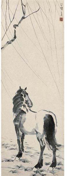 徐悲鴻(1895~1953)    立馬圖 -  - 中国书画近现代十位大师作品 - 2006春季大型艺术品拍卖会 -收藏网