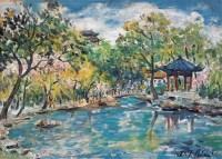 林达川 林达川 西湖景色 - 林达川 - 西画雕塑(下) - 2006夏季大型艺术品拍卖会 -收藏网