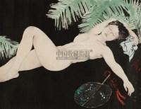 消夏图  镜心 设色纸本 - 何家英 - 中国书画四·当代书画 - 2010秋季艺术品拍卖会 -收藏网