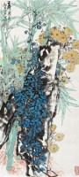 岁寒三友 立轴 设色纸本 - 康师尧 - 中国书画(二) - 2010年秋季艺术品拍卖会 -收藏网