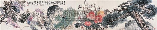 花卉 立轴 纸本 - 17615 - 中国书画(下) - 2010瑞秋艺术品拍卖会 -收藏网