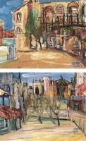 梁群 法国小镇、意大利小镇 布面油画 - 139068 - (西画)当代艺术专题 - 2006年秋季精品拍卖会 -收藏网