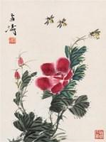 花卉 立轴 纸本 - 116837 - 中国书画(下) - 2010瑞秋艺术品拍卖会 -收藏网