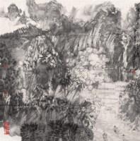 卓鹤君 山水 墨色纸本 - 114940 - 近现代书画专场 - 2006年秋季精品拍卖会 -收藏网