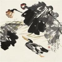 荷塘 镜心 设色纸本 - 127722 - 中国书画 - 2010年秋季拍卖会 -收藏网
