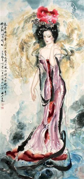 薛林兴 仕女 立轴 - 123322 - 中国书画、油画 - 2006艺术精品拍卖会 -收藏网
