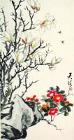 潘君诺 花卉 - 141073 - 中国书画  - 上海青莲阁第一百四十五届书画专场拍卖会 -收藏网