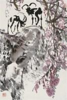 吉羊图 立轴 设色纸本 - 赵振川 - 中国书画(一) - 2010年秋季艺术品拍卖会 -中国收藏网