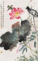 荷花翠鸟 立轴 设色纸本 - 118928 - 中国书画 - 第9期中国艺术品拍卖会 -收藏网
