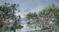 春花烂漫的湖畔 布面  油画 - 颜文樑 - 华人西画 - 2006年度大型经典艺术品拍卖会 -收藏网