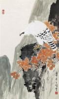 白鹰 立轴 设色纸本 - 1722 - 中国书画 - 第9期中国艺术品拍卖会 -收藏网
