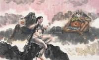 人物 镜片 纸本 - 傅小石 - 中国书画(下) - 2010瑞秋艺术品拍卖会 -收藏网