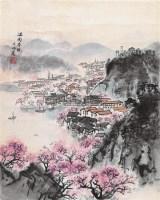 江南春晓 立轴 设色纸本 - 宋文治 - 中国书画 - 第9期中国艺术品拍卖会 -收藏网