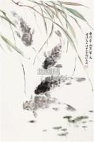 水荇牵风翠带长 立轴 纸本 - 汪亚尘 - 中国书画 - 2010年秋季书画专场拍卖会 -收藏网