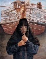 惠州船屋 布面  油画 - 邸立丰 - 华人西画 - 2006年度大型经典艺术品拍卖会 -收藏网