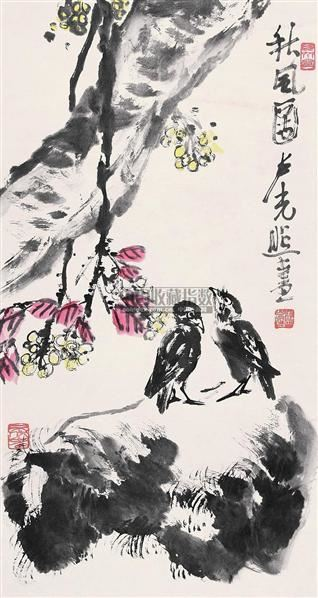 秋风图 立轴 纸本 - 137281 - 中国书画(下) - 2010瑞秋艺术品拍卖会 -收藏网