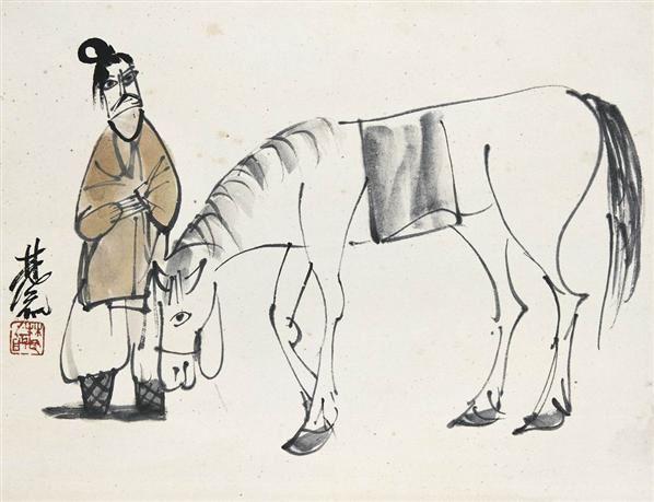 林风眠   牵马图 - 116036 - 中国书画近现代名家作品专场 - 2008年秋季艺术品拍卖会 -收藏网