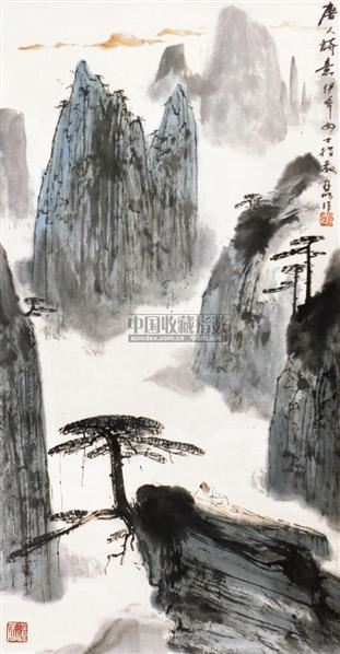唐人诗意 立轴 纸本 - 2538 - 中国书画 - 2010秋季艺术品拍卖会 -收藏网