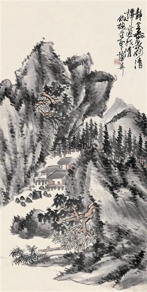 山水 (一件) 立轴 纸本 - 8107 - 字画下午专场  - 2010年秋季大型艺术品拍卖会 -收藏网