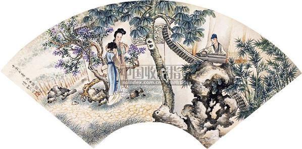 人物 扇面 纸本 - 131055 - 扇面小品 - 2010秋季艺术品拍卖会 -收藏网