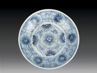 清·中期 青花花卉盘 -  - 瓷玉珍玩 - 2006艺术精品拍卖会 -收藏网