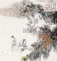 西山闲居图 立轴 设色纸本 - 王明明 - 中国书画(一) - 2010年秋季艺术品拍卖会 -收藏网