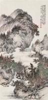 山水 立轴 设色纸本 - 吴琴木 - 中国书画一 - 2010秋季艺术品拍卖会 -收藏网