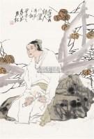 李贺小像 镜心 纸本设色 - 袁武 - 中国当代书画 - 2010秋季艺术品拍卖会 -收藏网
