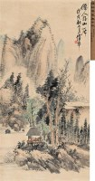 仙人好山居 立轴 设色纸本 - 8107 - 中国近现代书画(二) - 2010秋季艺术品拍卖会 -收藏网