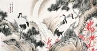 溥佐 松鹤延年 硬片 - 溥佐 - 中国书画、油画 - 2006艺术精品拍卖会 -中国收藏网