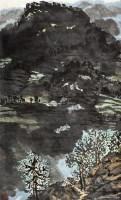 山间小屋 镜片 设色纸本 - 方济众 - 中国书画 - 2010秋季艺术品拍卖会 -收藏网