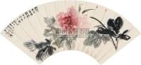花卉 扇片 纸本 - 116070 - 中国书画(上) - 2010瑞秋艺术品拍卖会 -收藏网