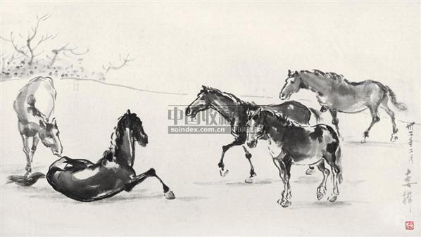 动物写生 水墨纸本-李桦-中国新兴木刻运动先驱