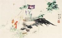 鸡 镜心 纸本设色 - 张书旂 - 中国近现代书画  - 2010秋季艺术品拍卖会 -收藏网