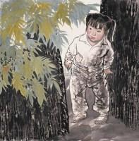王有政 1989年作 童年 片 设色纸本 - 王有政 - 中国油画·当代名家书画 - 2006艺术品拍卖会 -中国收藏网