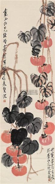 好事连连 立轴 设色纸本 - 139807 - 中国近现代书画(二) - 2010秋季艺术品拍卖会 -收藏网