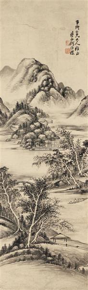 山水 立轴 纸本 - 6128 - 中国书画 - 2010秋季艺术品拍卖会 -收藏网