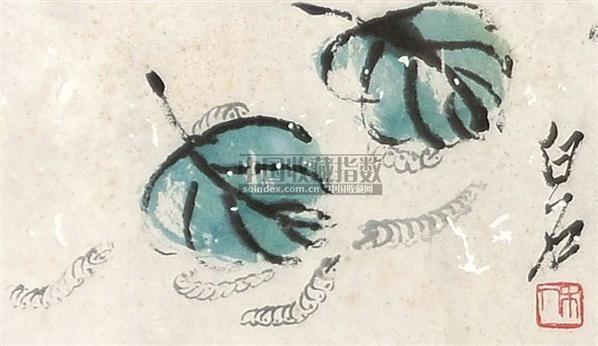 春蚕 镜心 纸本 - 116087 - 中国书画 - 2010年秋季书画专场拍卖会 -收藏网