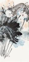荷花 立轴 纸本 - 何海霞 - 中国书画 - 2010年秋季书画专场拍卖会 -收藏网