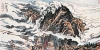 陆俨少(1909~1993)  四山云起图 -  - 中国书画近现代十位大师作品 - 2005年首届大型拍卖会 -收藏网