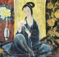 仕女 镜心 纸本 - 林风眠 - 中国书画 - 2010年秋季书画专场拍卖会 -中国收藏网